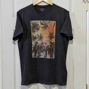 Banana Republic Palm Trees T Shirt Tee EUC
